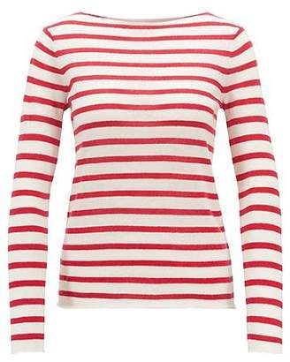 HUGO BOSS Striped loose-knit sweater in pure cashmere