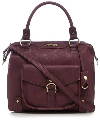 Mantaray Dark Red Front Pocket Bowler Bag