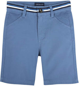 Andy & Evan Cotton-Stretch Mock Belt Shorts, Size 2-7