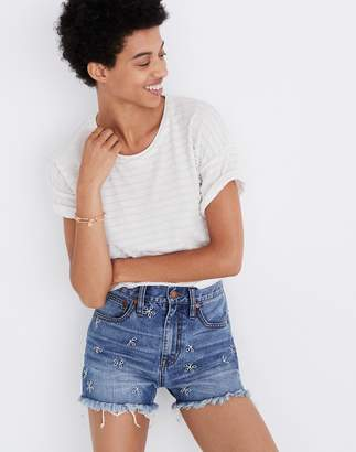 Madewell The Perfect Jean Short: Daisy Embroidered Edition