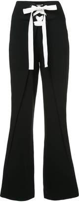 Cinq à Sept lace-up flared trousers