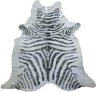 Chesterfield Splashed Zebra Cowhide Rug