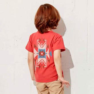 HusHusH (ハッシュアッシュ) - ハッシュアッシュ 【150cmまで】イカット柄Tシャツ