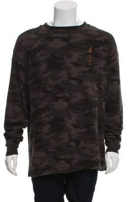 Unravel Project Camouflage Appliqué Crew Neck Sweatshirt w/ Tags