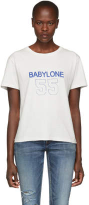 Saint Laurent White Babylone T-Shirt