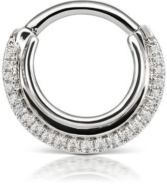 Maria Tash 8mm Dhara Single Hoop Earring - White Gold