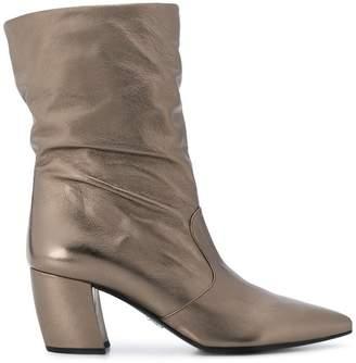 Prada slouchy mid-calf boots