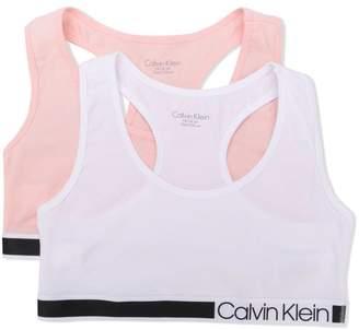 Calvin Klein Kids logo bralette two pack