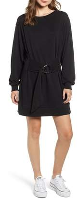BP Belted Sweatshirt Dress