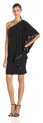 Betsy & Adam Women's One Shoulder Sequin Trim Dress $109 thestylecure.com
