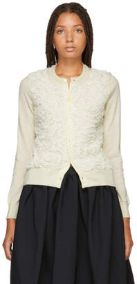 Comme des Garcons White Tulle Cardigan