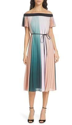 b27471e855e7f Ted Baker Fernee Colorblock Pleated Dress