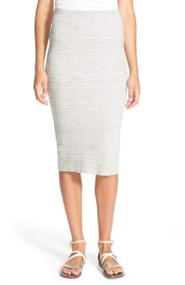 James Perse Rib Body-Con Midi Skirt