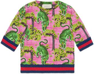 Children's sweatshirt with Gucci Bengal print $325 thestylecure.com