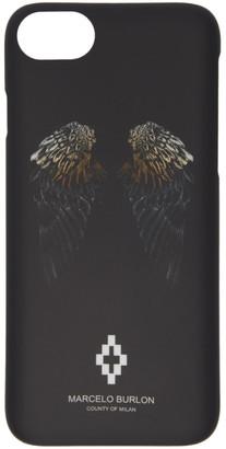 Marcelo Burlon County of Milan Black Heart Wings iPhone 8 Case