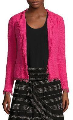 IRO Shavani Fringed Boucle Jacket $380 thestylecure.com