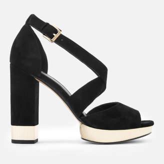 MICHAEL Michael Kors Women's Valerie Platform Heeled Sandals - Black