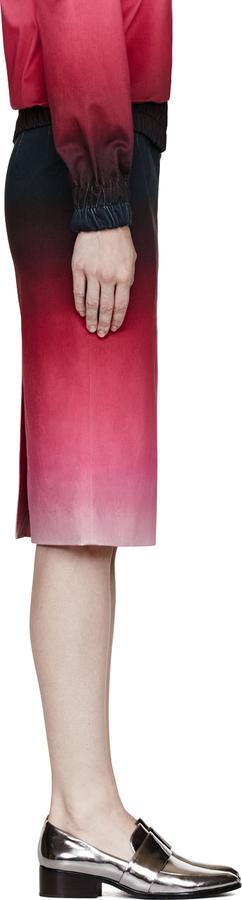 Jonathan Saunders Pink Cotton Sateen Ombre Axel Skirt