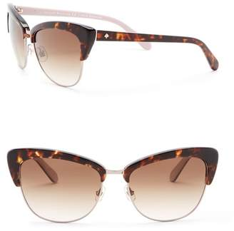 Kate Spade Genette 56mm Clubmaster Sunglasses