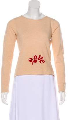 Lucien Pellat-Finet Long Sleeve Cashmere Top