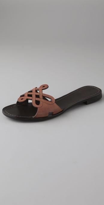 Diane Von Furstenberg Daryl Love Knot Flat Sandals