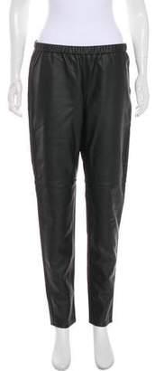 Michael Kors Faux Leather Mid-Rise Skinny Pants