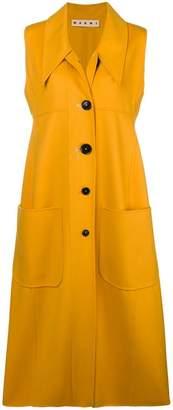 Marni single breasted duster coat