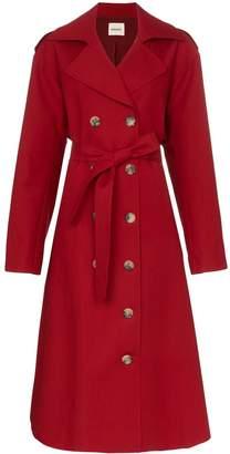 KHAITE Lauren cotton trench coat