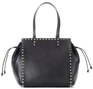 Valentino Rockstud leather shopper