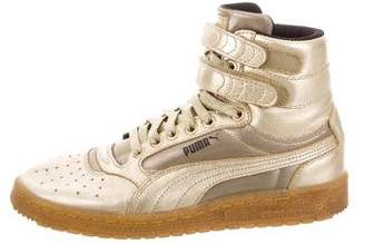 Puma Metallic High-Top Sneakers
