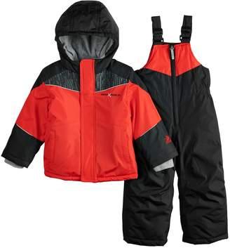 ZeroXposur Mini Baby Boy Mini Carter Heavyweight Hooded Jacket & Bib Snow Pants Set
