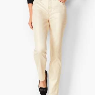 Talbots High-Rise Straight-Leg Jean - Vanilla Sparkle