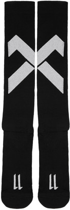 11 by Boris Bidjan Saberi Black Classic Sport Cross Logo Socks $65 thestylecure.com