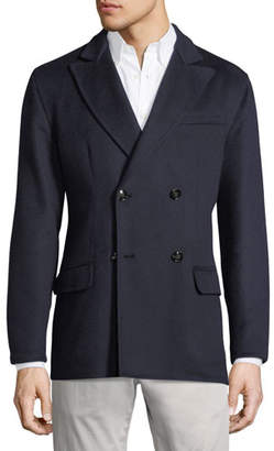 Kiton Cashmere Double-Breasted Coat