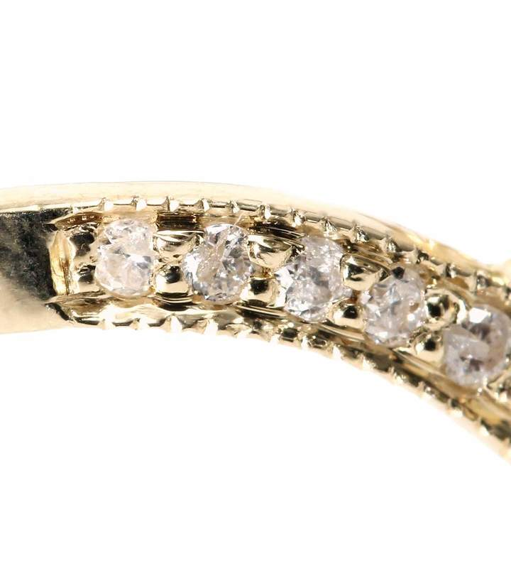 Jacquie Aiche 14KT YELLOW GOLD RING WITH PAVÉ DIAMONDS