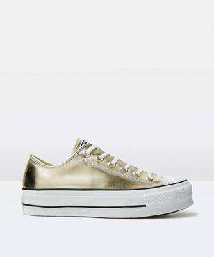 Converse Chuck Taylor All Star Platform Gold Shoe