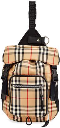 Burberry Men's Signature Check Crossbody Backpack