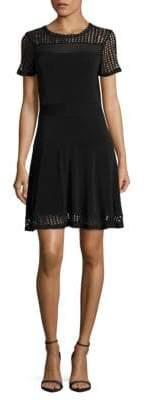MICHAEL Michael Kors Mesh Fit-&-Flare Dress