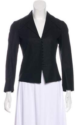 Dries Van Noten Linen Weave Cropped Jacket