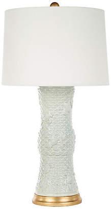 Koi Fish Table Lamp - Celadon/Gold - Bradburn Home