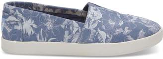 Toms Blue Floral Suede Women's Avalons