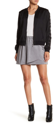 Kensie Faux Suede Patch Skirt $59 thestylecure.com