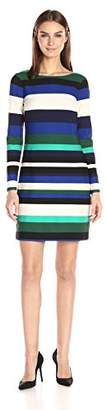 Vince Camuto Women's Stripe Scuba T Body Dress