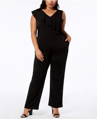 NY Collection Plus Size Ruffled Jumpsuit