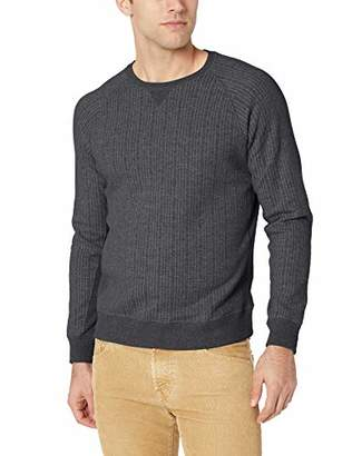 Billy Reid Men's Long Sleeve Quilted Crew Neck Sweatshirt