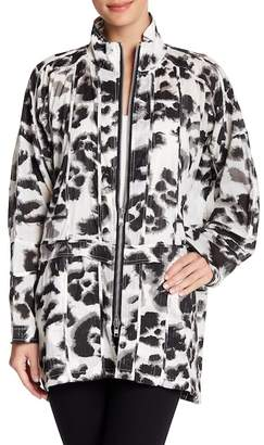 Religion Animal Printed Panelled Coat