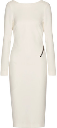 TOM FORD - Open-back Zip-detailed Stretch-crepe Dress - White $1,990 thestylecure.com