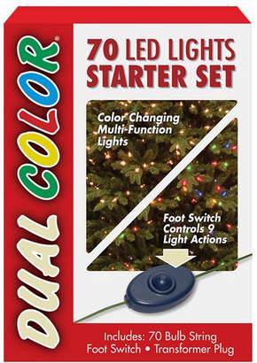 National Tree Company National Tree 70 Bulb Dual Color Led Light String Starter Set, 9 Function