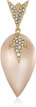 Alexis Bittar Crystal Encrusted Lucite Drop Post Earrings