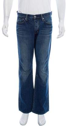 G Star Button-Up Straight-Leg Jeans